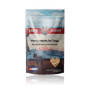 Earth Buddy Hemp Hearts for Dogs Apple