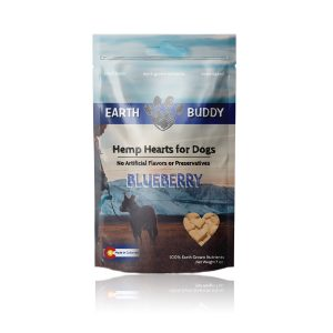 Earth Buddy Hemp Hearts for Dogs Blueberry