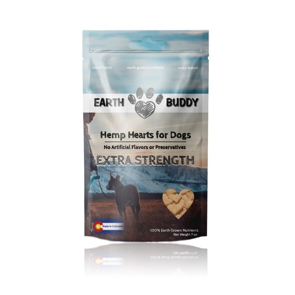 Earth Buddy Hemp Hearts for Dogs Extra Strength