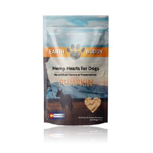 Earth Buddy Hemp Hearts for Dogs Pumpkin