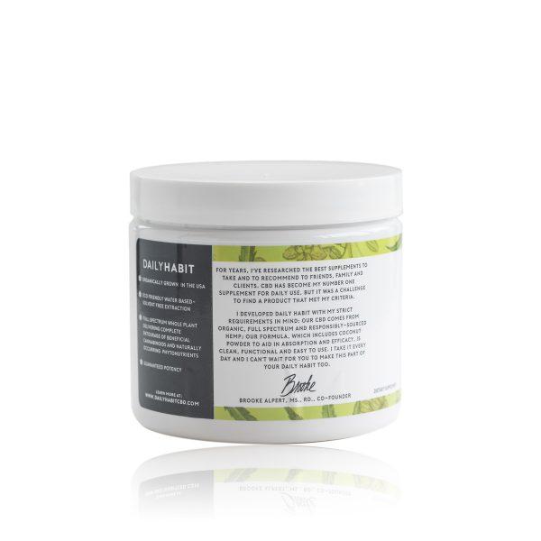 Daily Habit CBD Powder Label