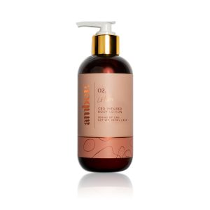 Amber 02 cbd infused body lotion