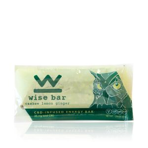 Wise Bar Cashew Lemon Ginger CBD bar