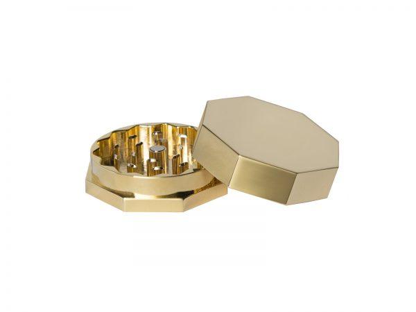 Gold hemp flower grinder